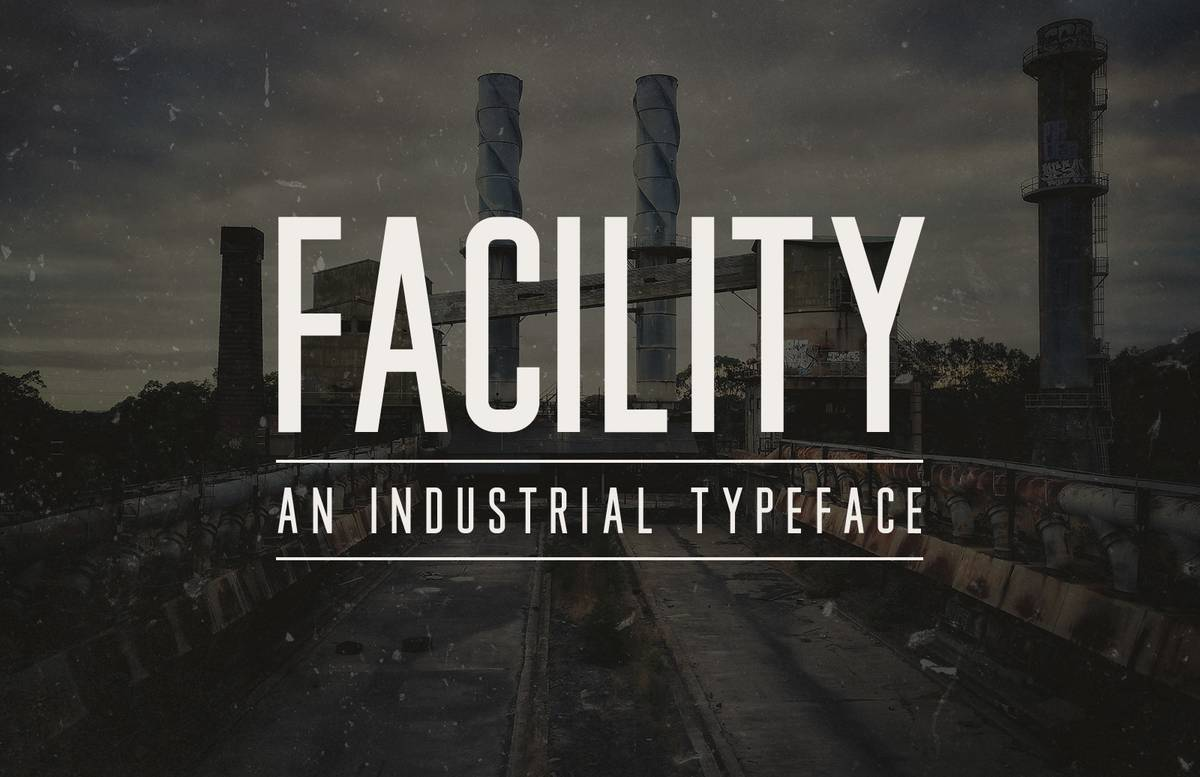 Facility Industrial Font Preview 1