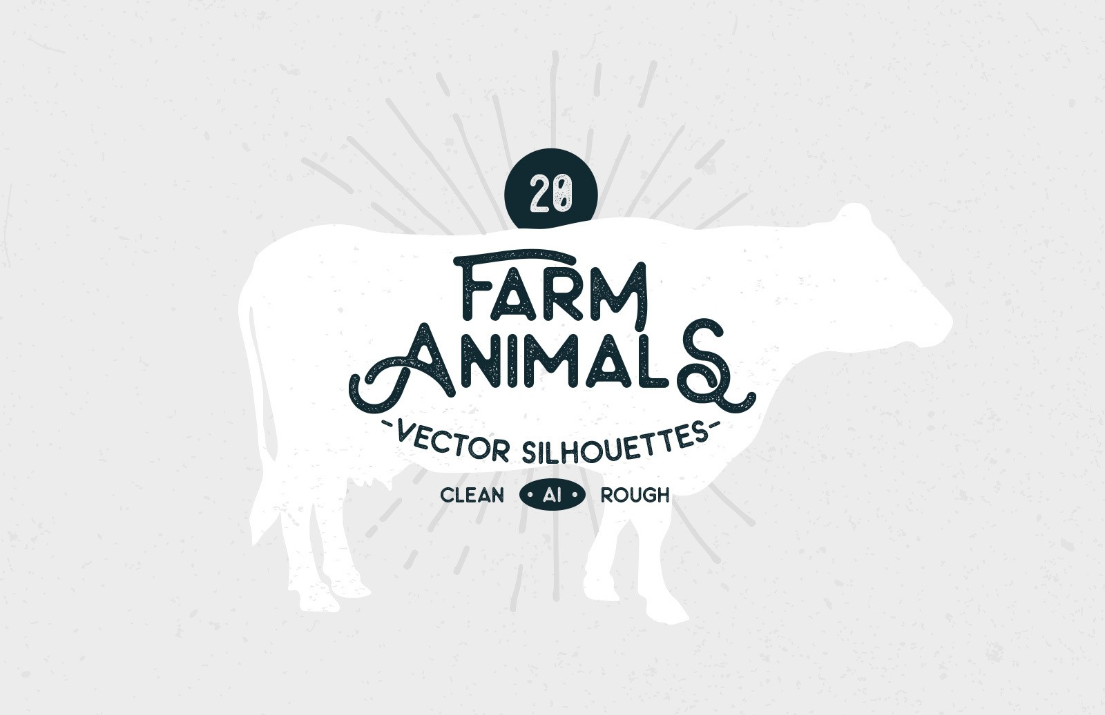 Farm Animals Vector Silhouettes Preview 1