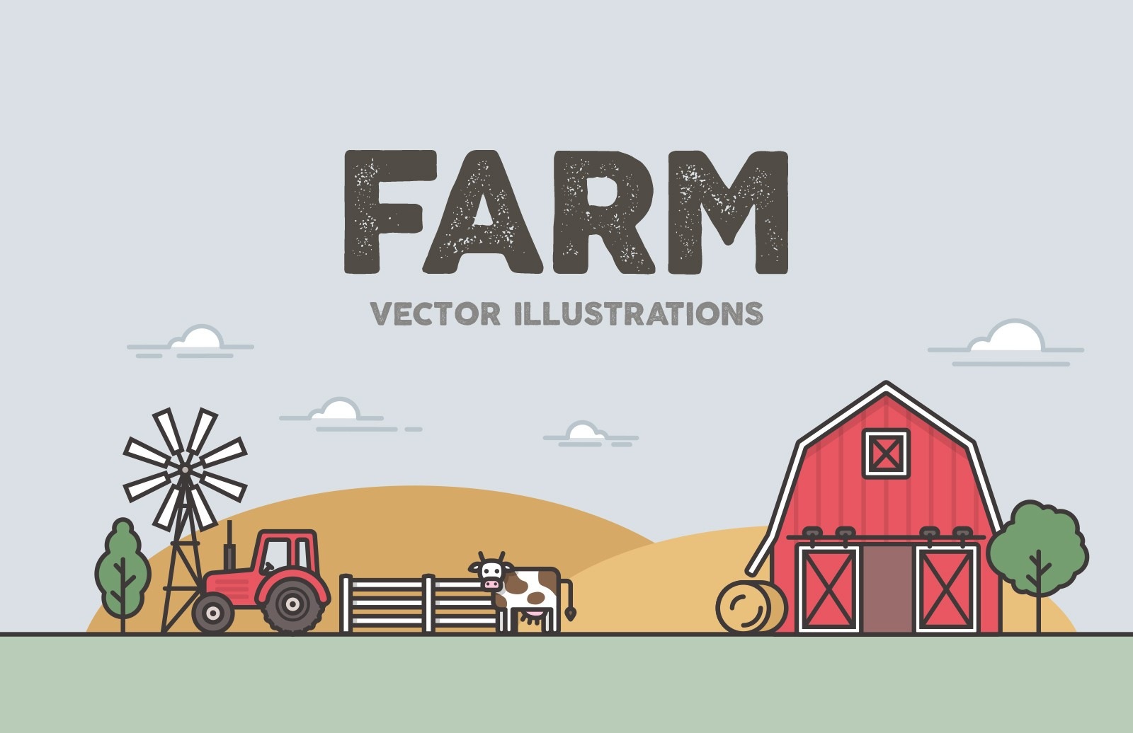 Farm Vector Illustrations Preview 1