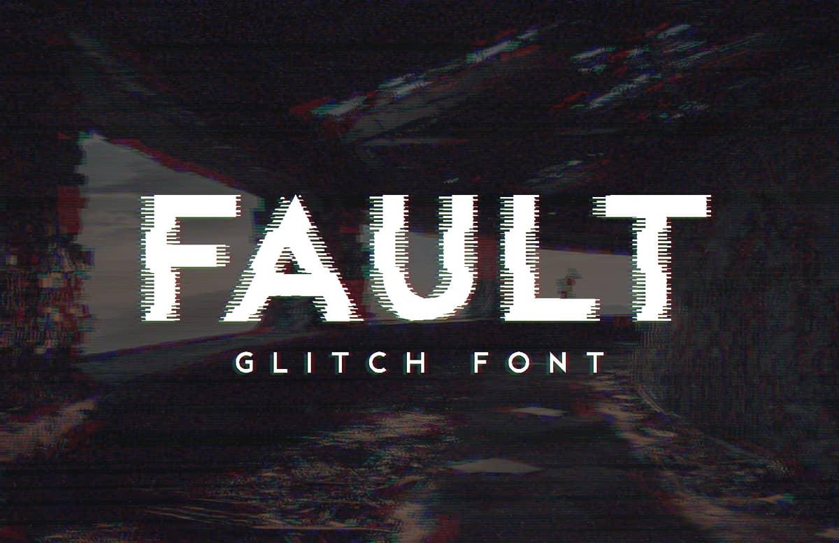Fault Glitch Font Preview 1