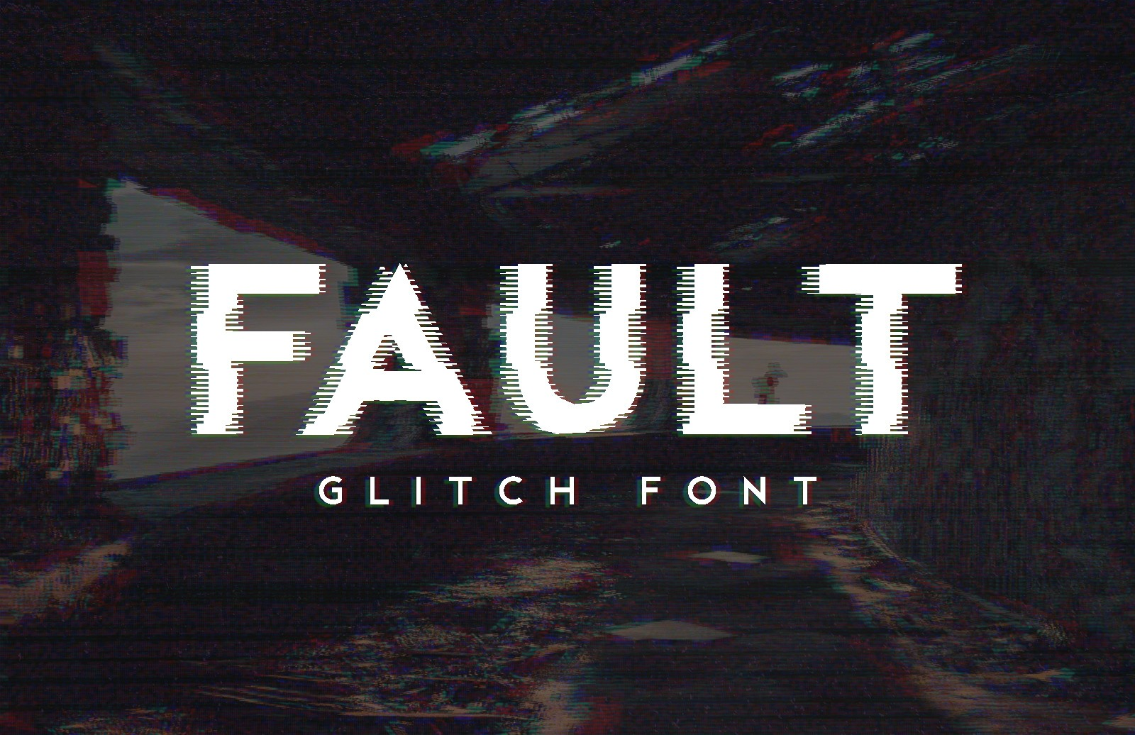 Fault Glitch Font Preview 1