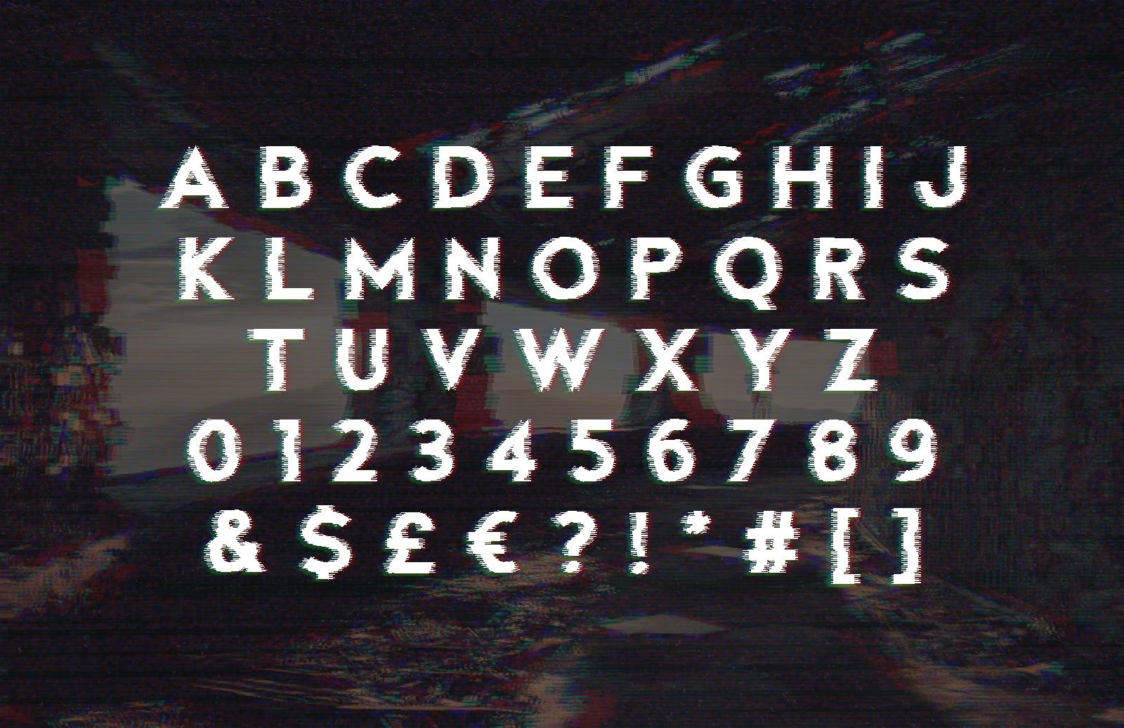 Fault - Glitch Font 2