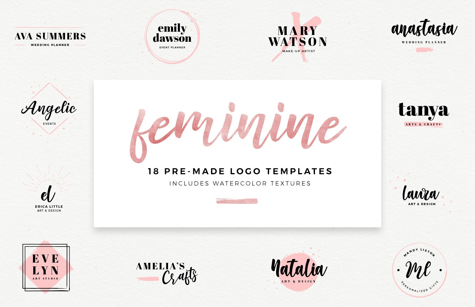 Feminine Logo Templates Preview 1C