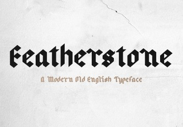 Featherstone - Old English Font
