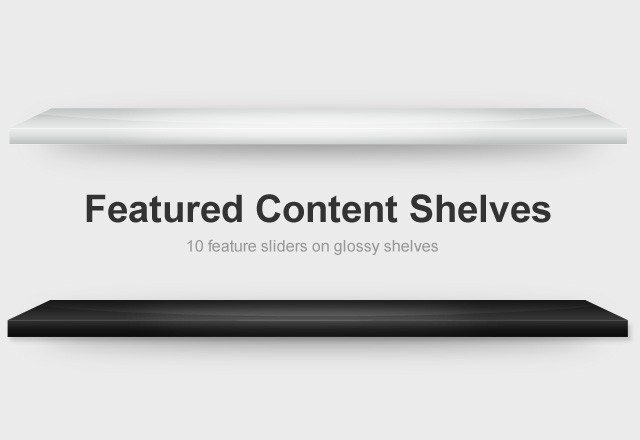 Featured Content Shelves