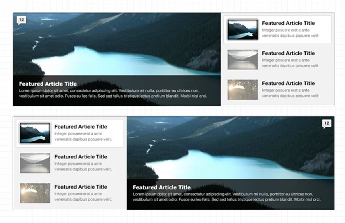 Featured  Content  Web  Sliders  Preview1