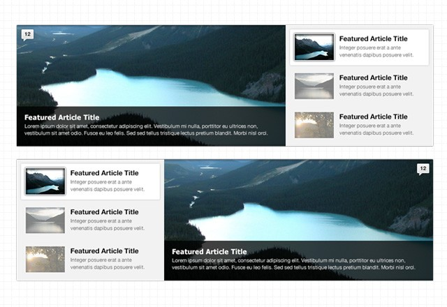 Featured Content Web Sliders