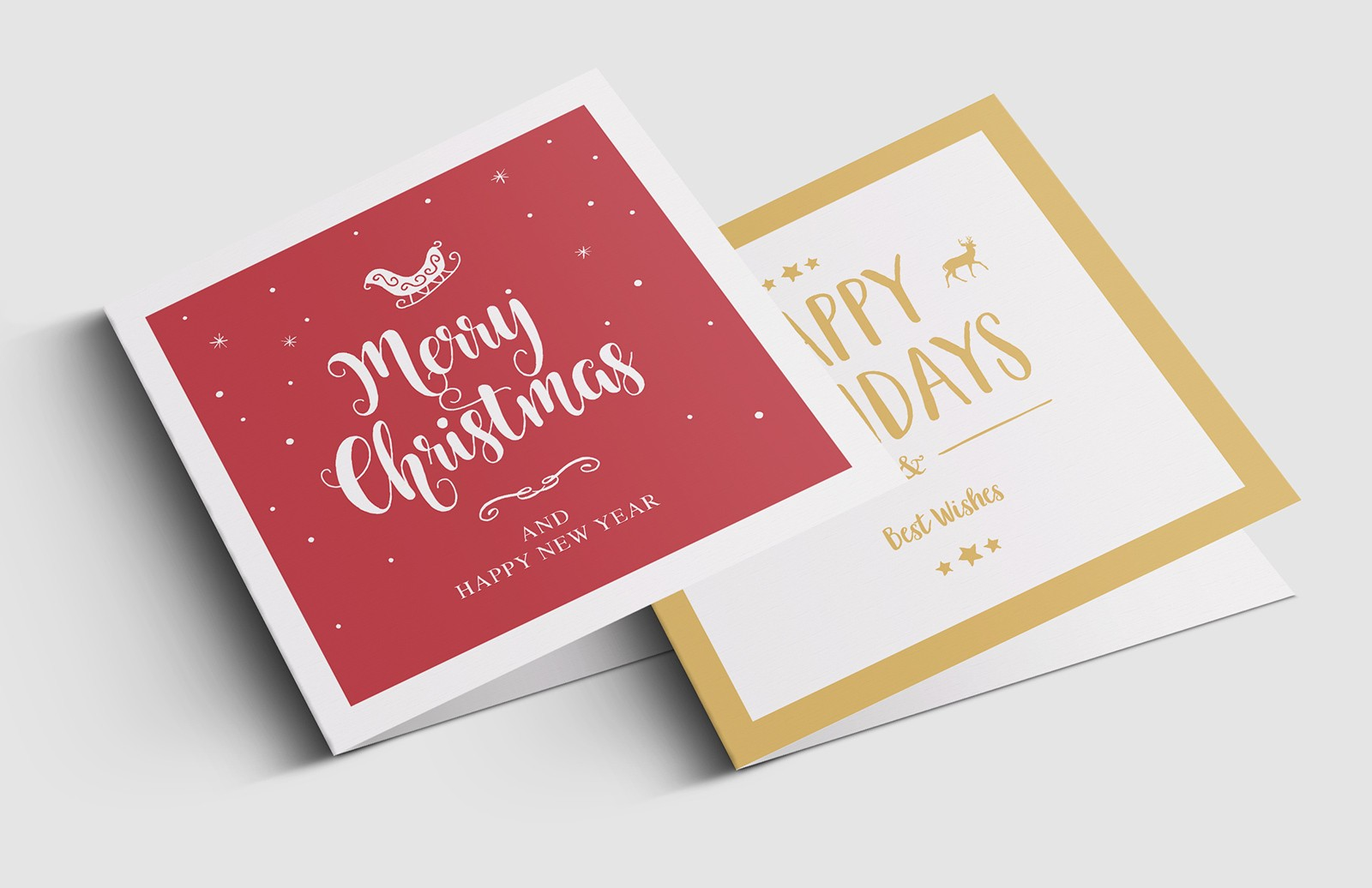 Festive Christmas Greeting Card Templates Preview 1