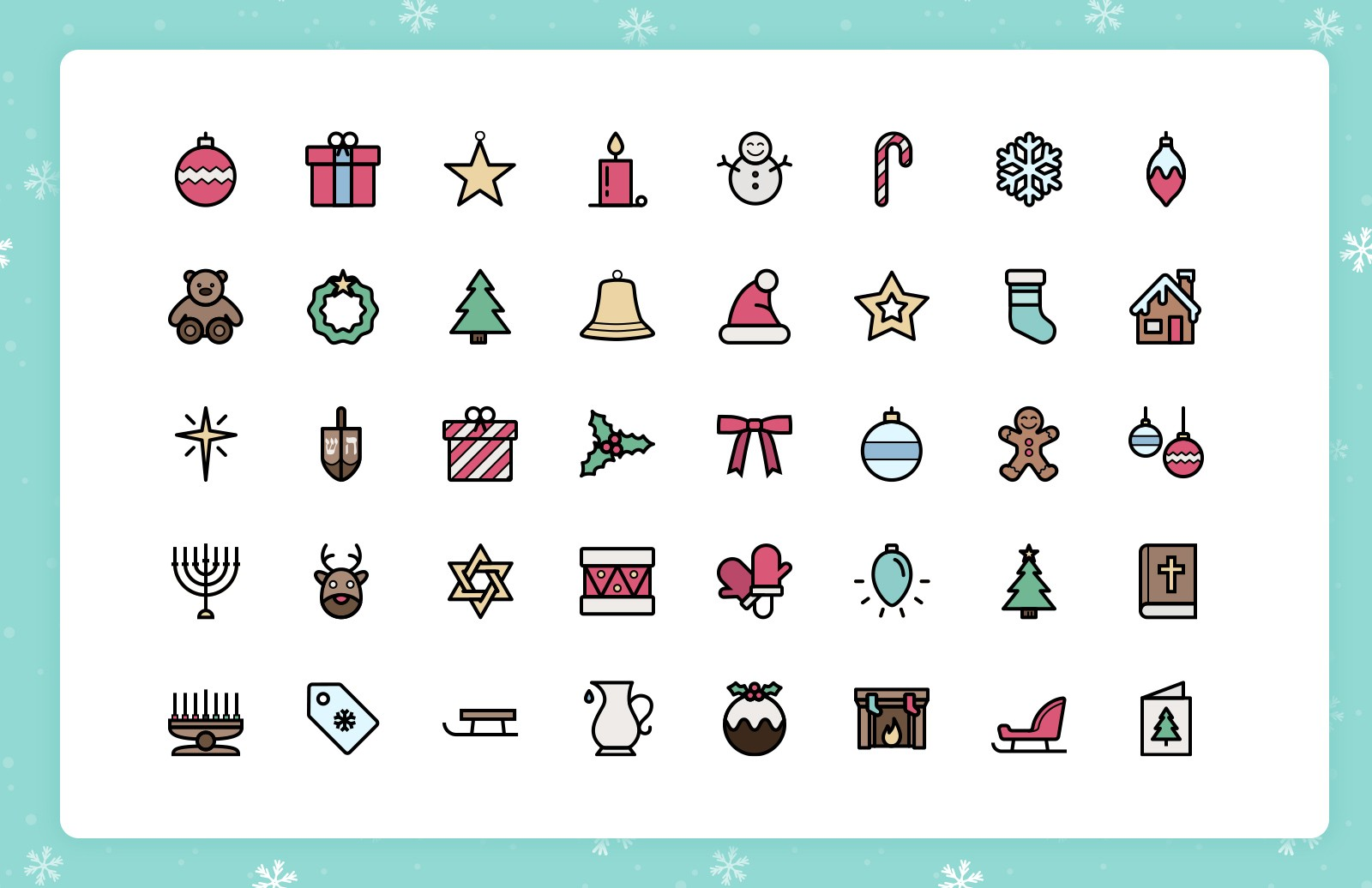 Large Festive  Line  Icons 2  Preview 3