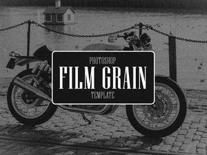 Film Grain Photoshop Template 1