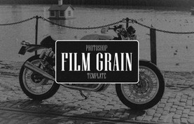 Film Grain Photoshop Template