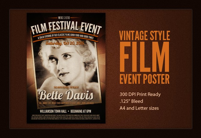 Film Event Flyer Template