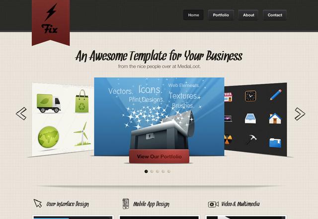 Fix: A Sharp Website Template