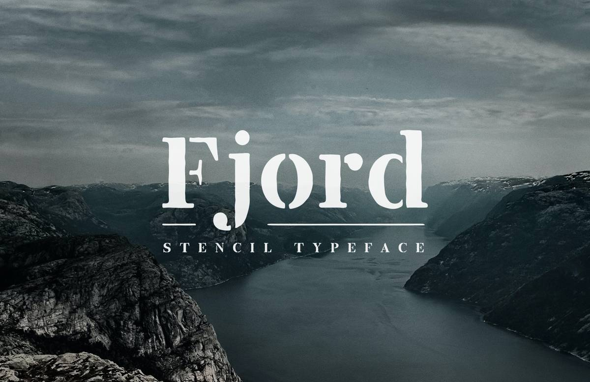 Fjord Stencil Typeface Preview 1