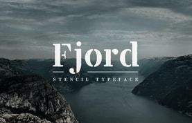 Fjord Stencil - Display Font