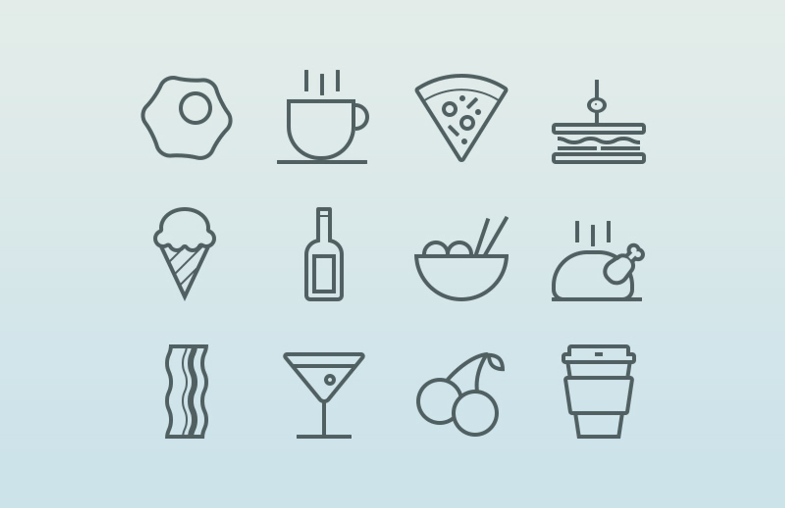 Food   Drink  Icons  Preview 1A