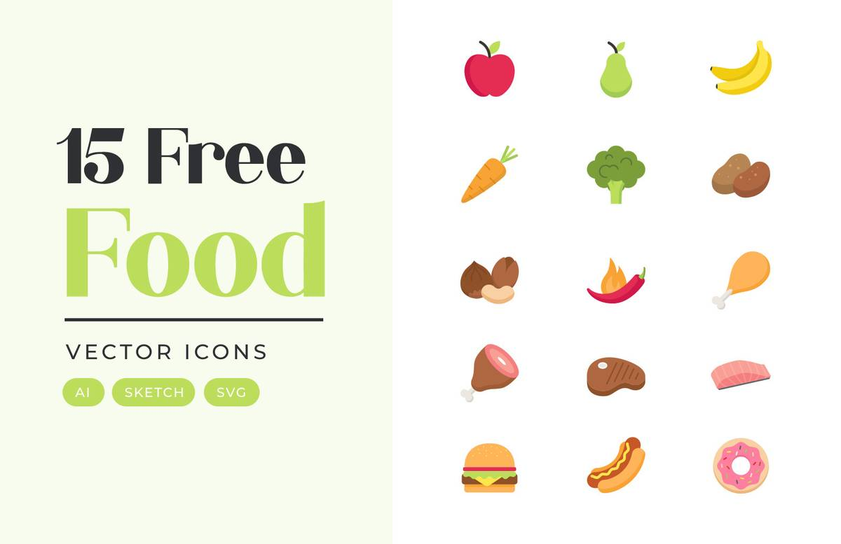 Food Vector Icons Preview 1A