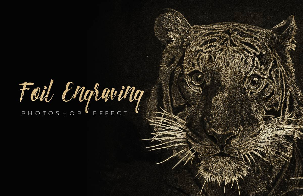Foil Engraving Art Photoshop Effect Preview 1