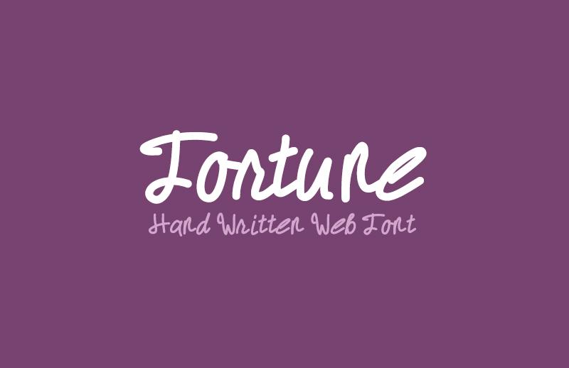 Fortune - Hand Written Web Font