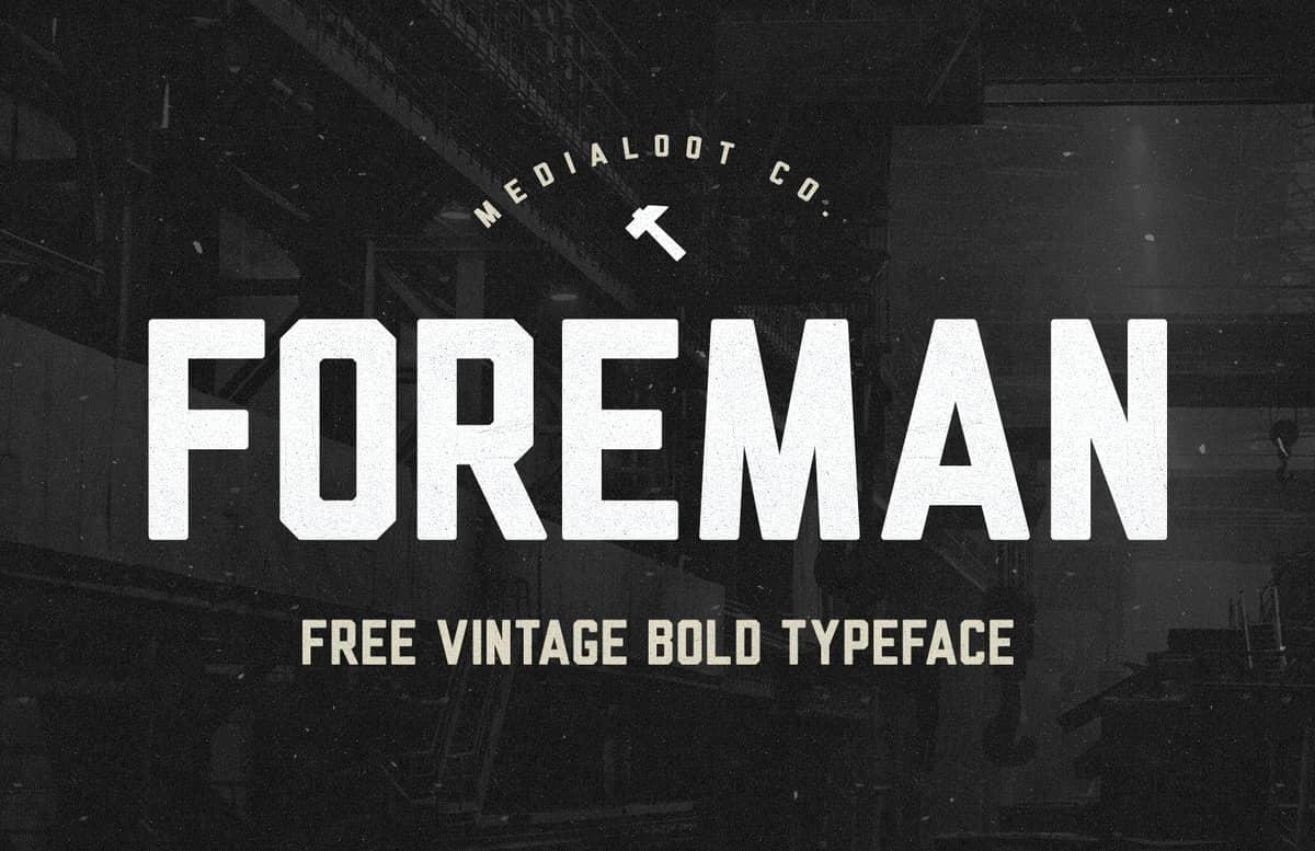 Foreman Vintage Font Preview 1