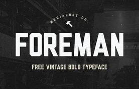 Foreman Bold - Free Vintage Font