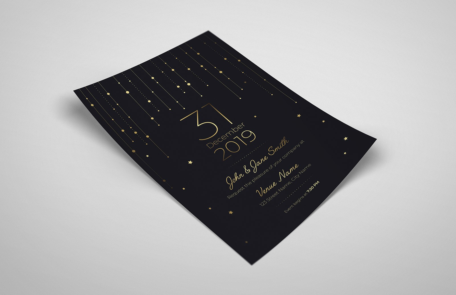 Formal Invitation Template Preview 1