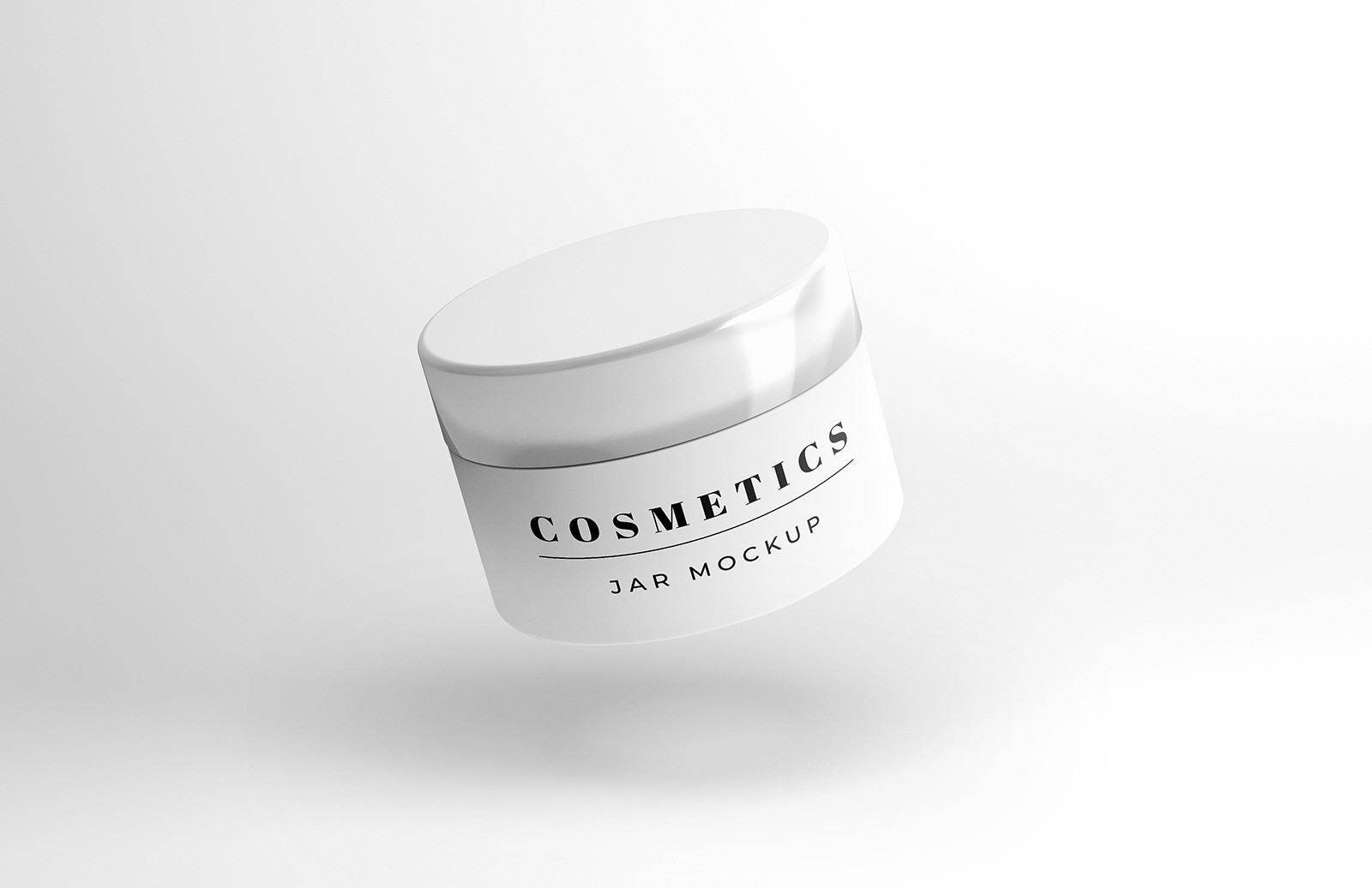 Floating Cosmetics Jar Mockup Preview 1