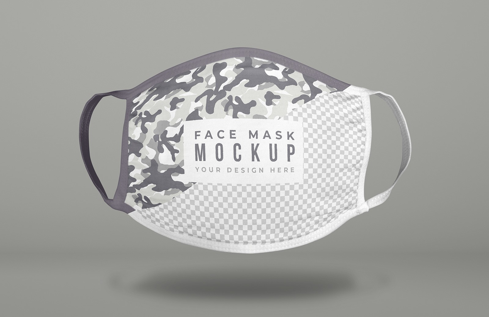 Floating Face Mask Mockup Preview 1