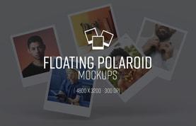 Floating Polaroid Mockups