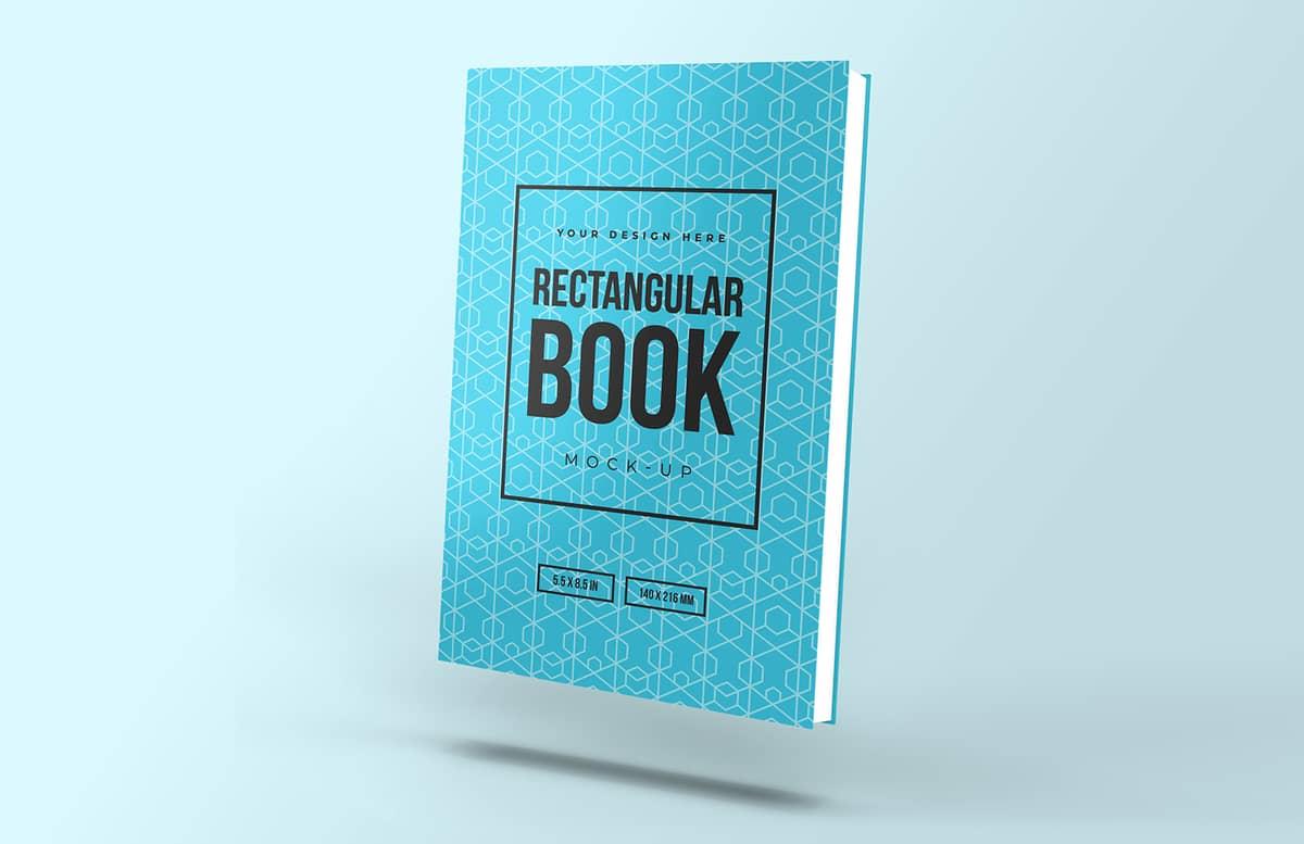 Floating Rectanglular Book Mockup Preview 1B