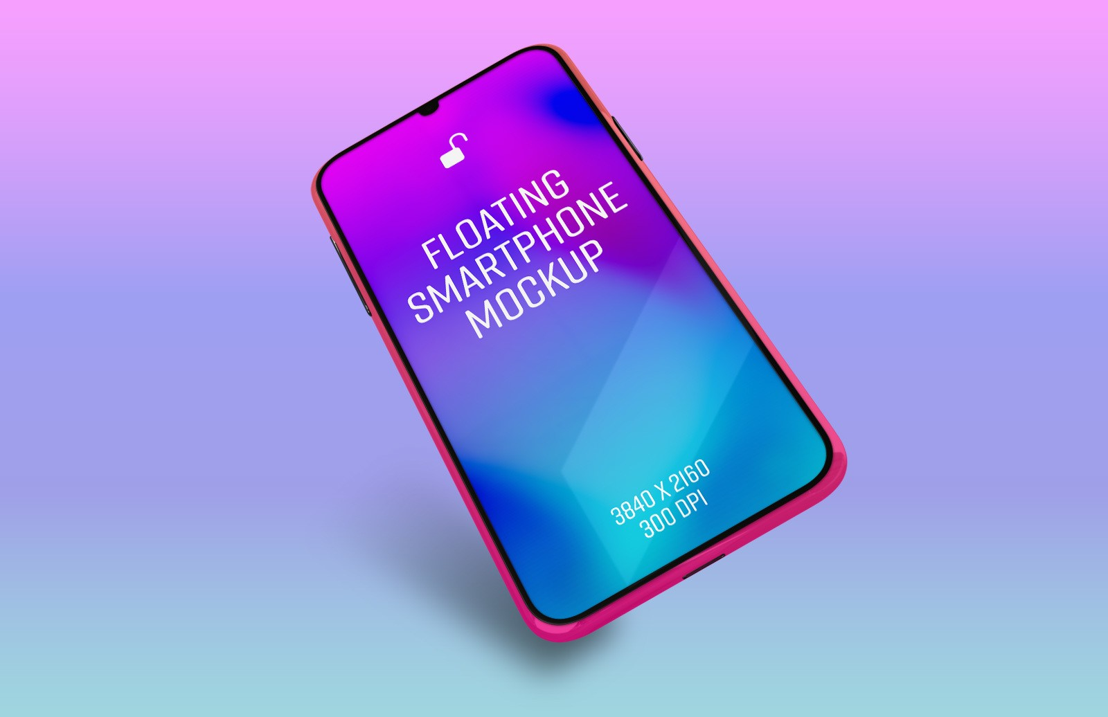 Floating Smartphone Mockup Preview 1