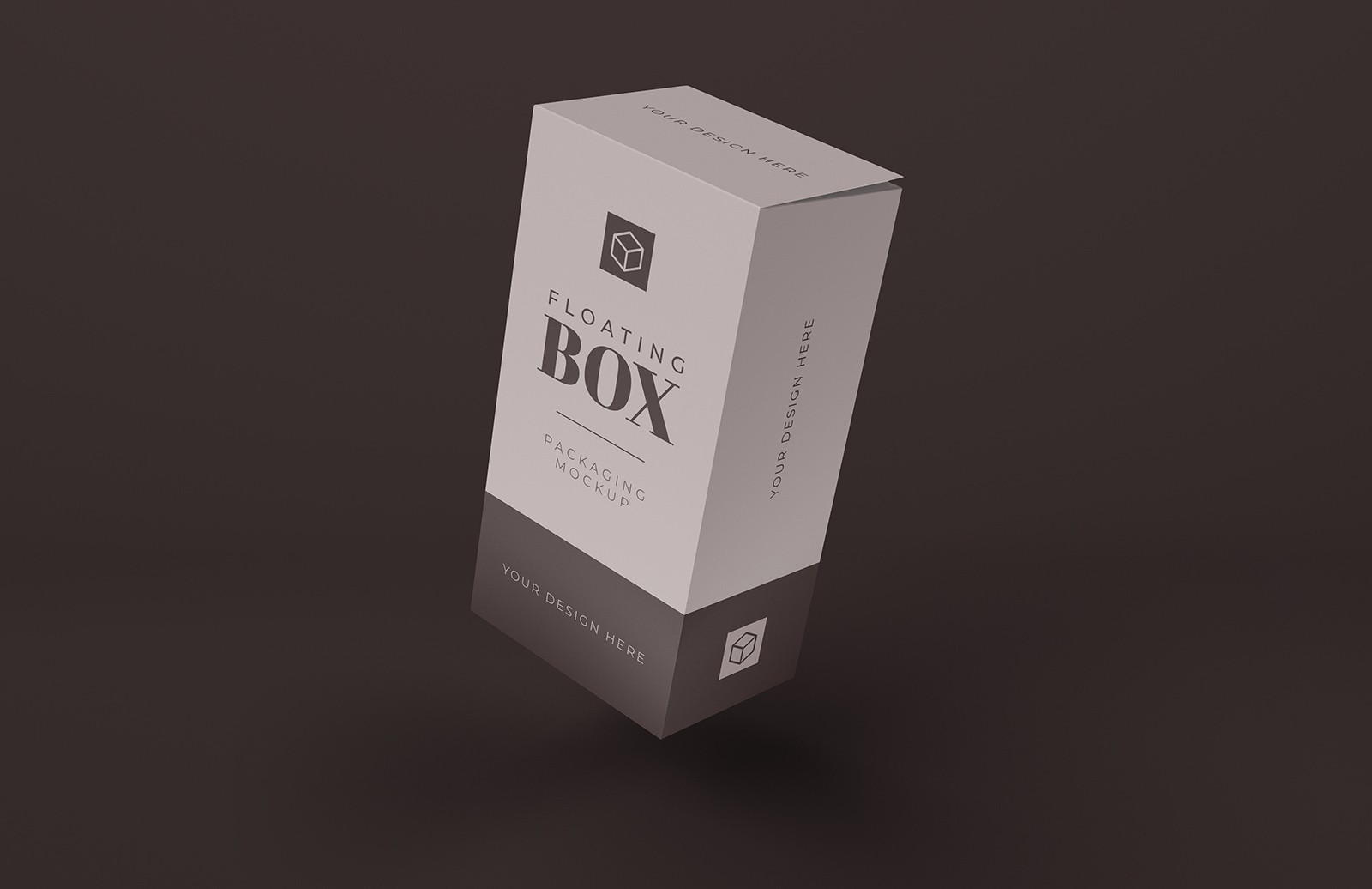 Floating Tall Box Mockup Preview 1
