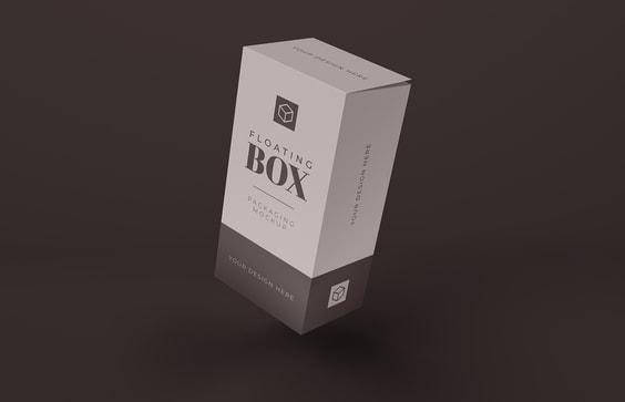 Floating Tall Box Mockup