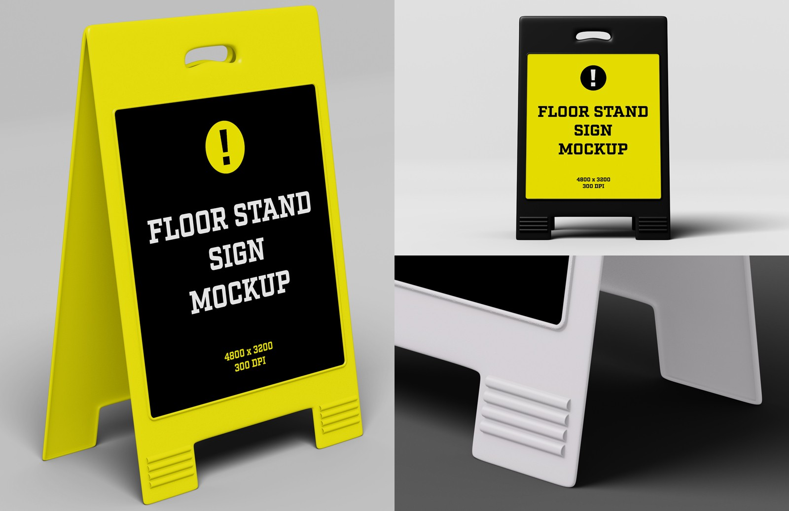 Floor Stand Sign Mockup Preview 1