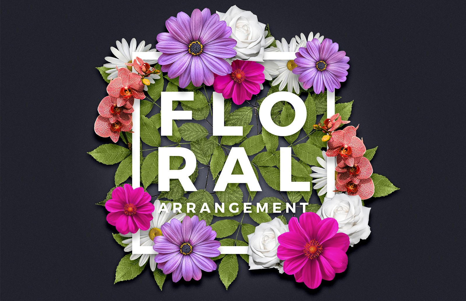 Floral Arrangement Text Effect