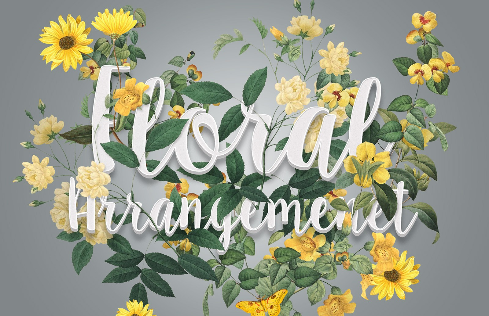 Floral  Arrangmenet  Mockup  Preview 1