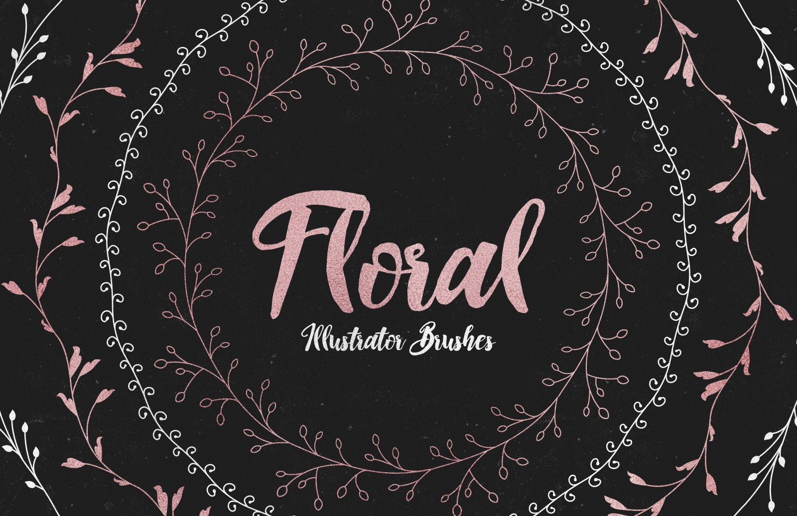 Floral  Illustrator  Pattern  Brushes  Preview 1
