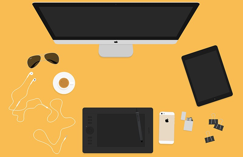 Flat Hero Header Kit - Designer Essentials