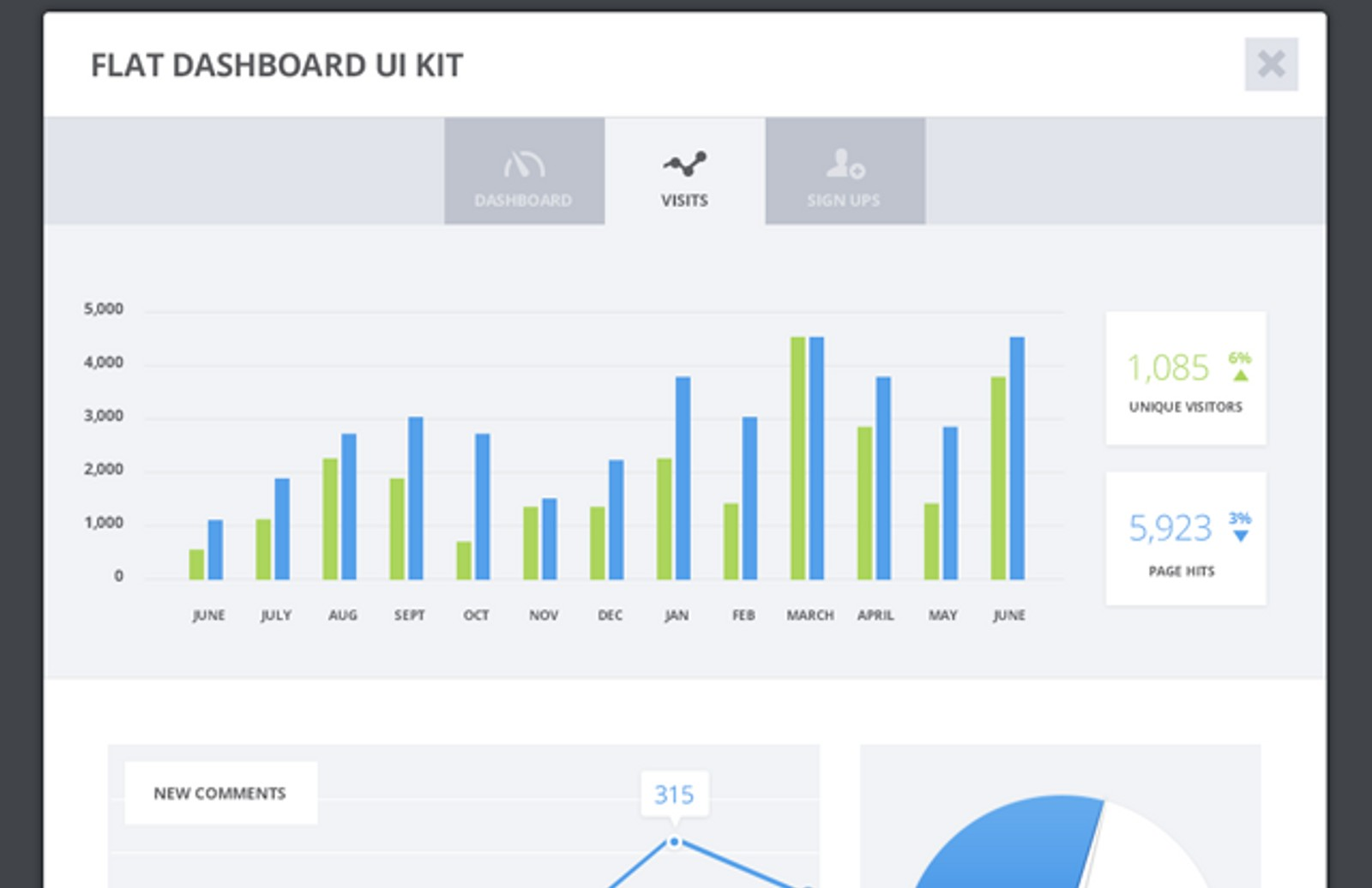 Flat  Dashboard  Ui  Kit  Preview1