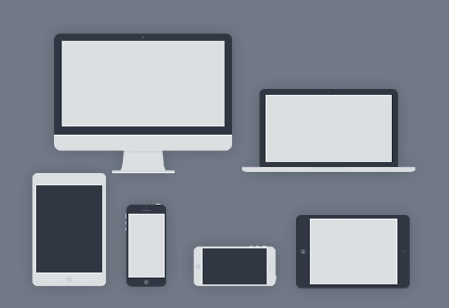 Flat Vector Apple Products