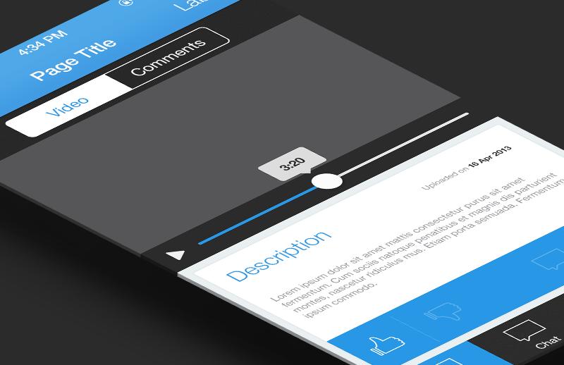 Flat iPhone App UI Template - Vol 3