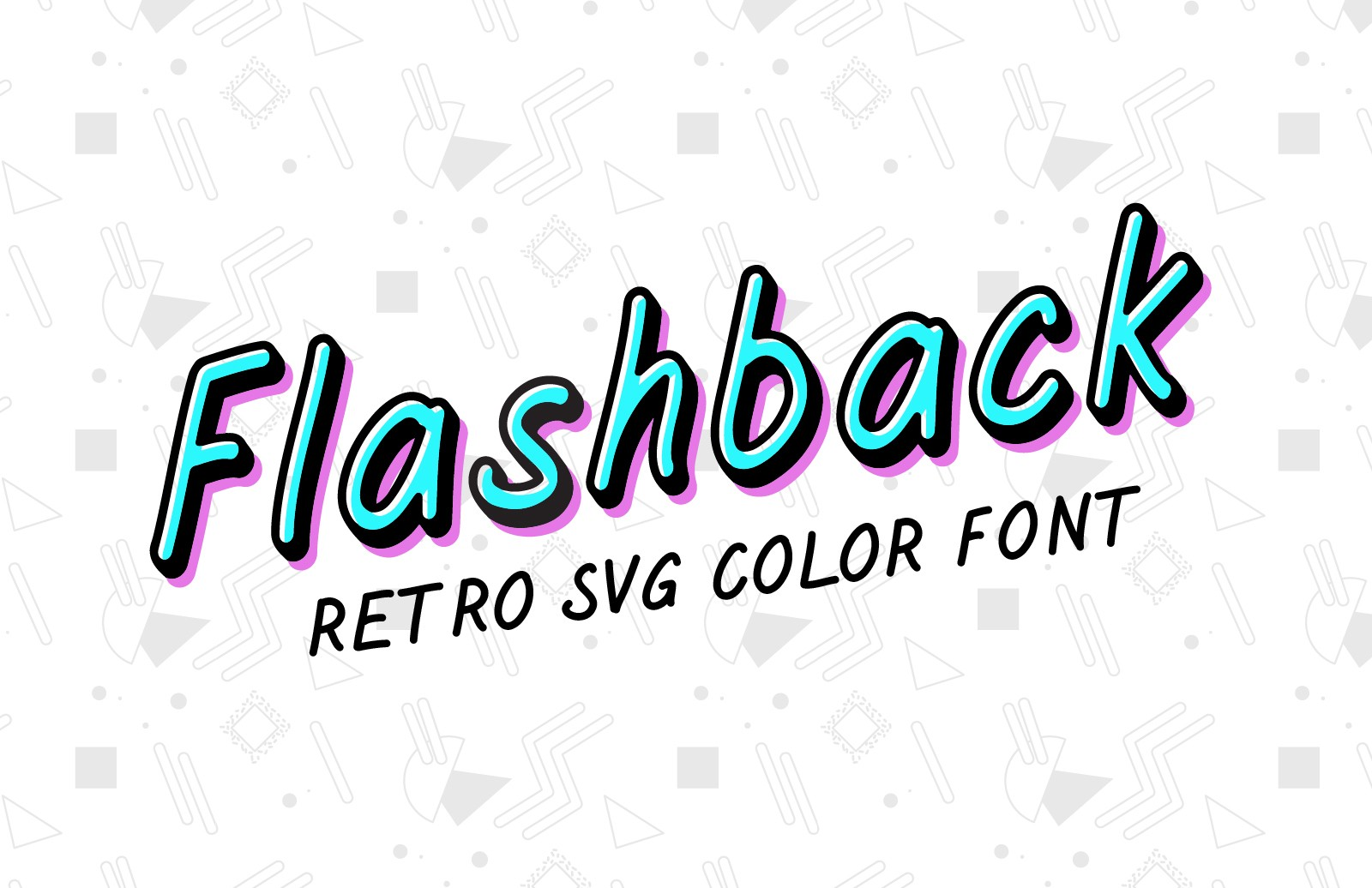 Flashback - Retro SVG Color Font