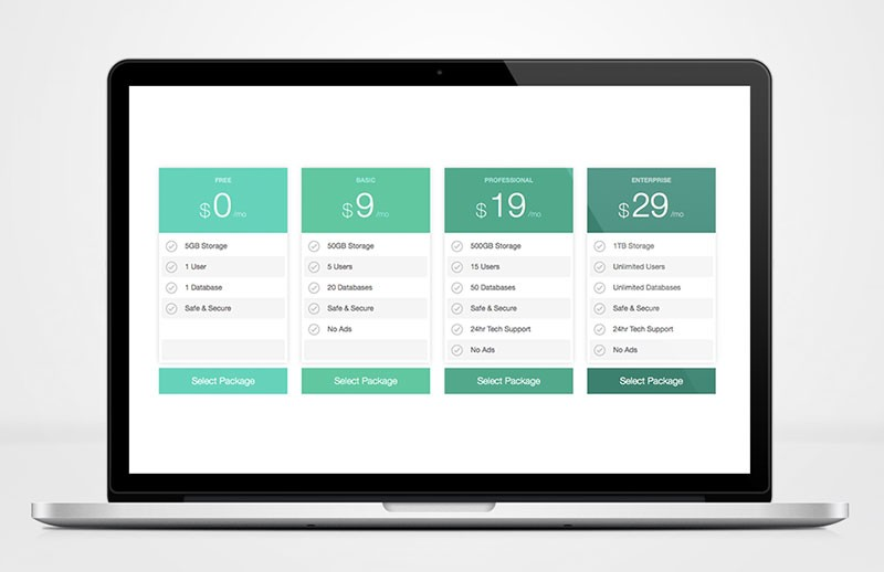 Flexible Pricing Table Template