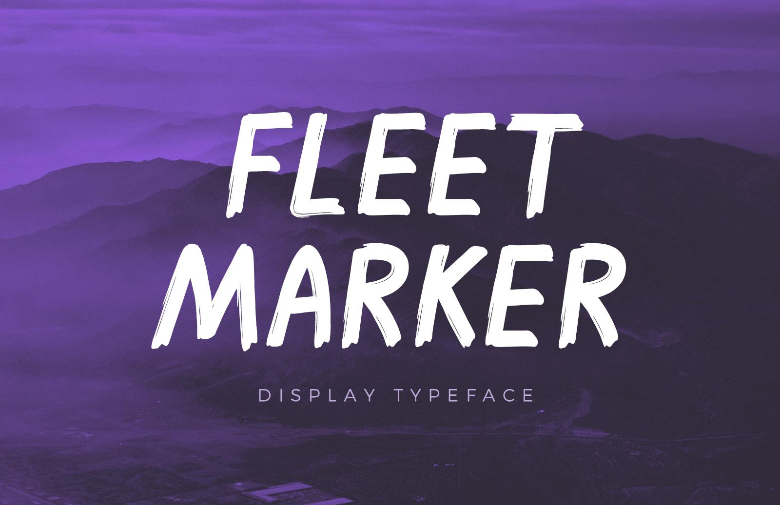 Fleet - Felt Marker Font