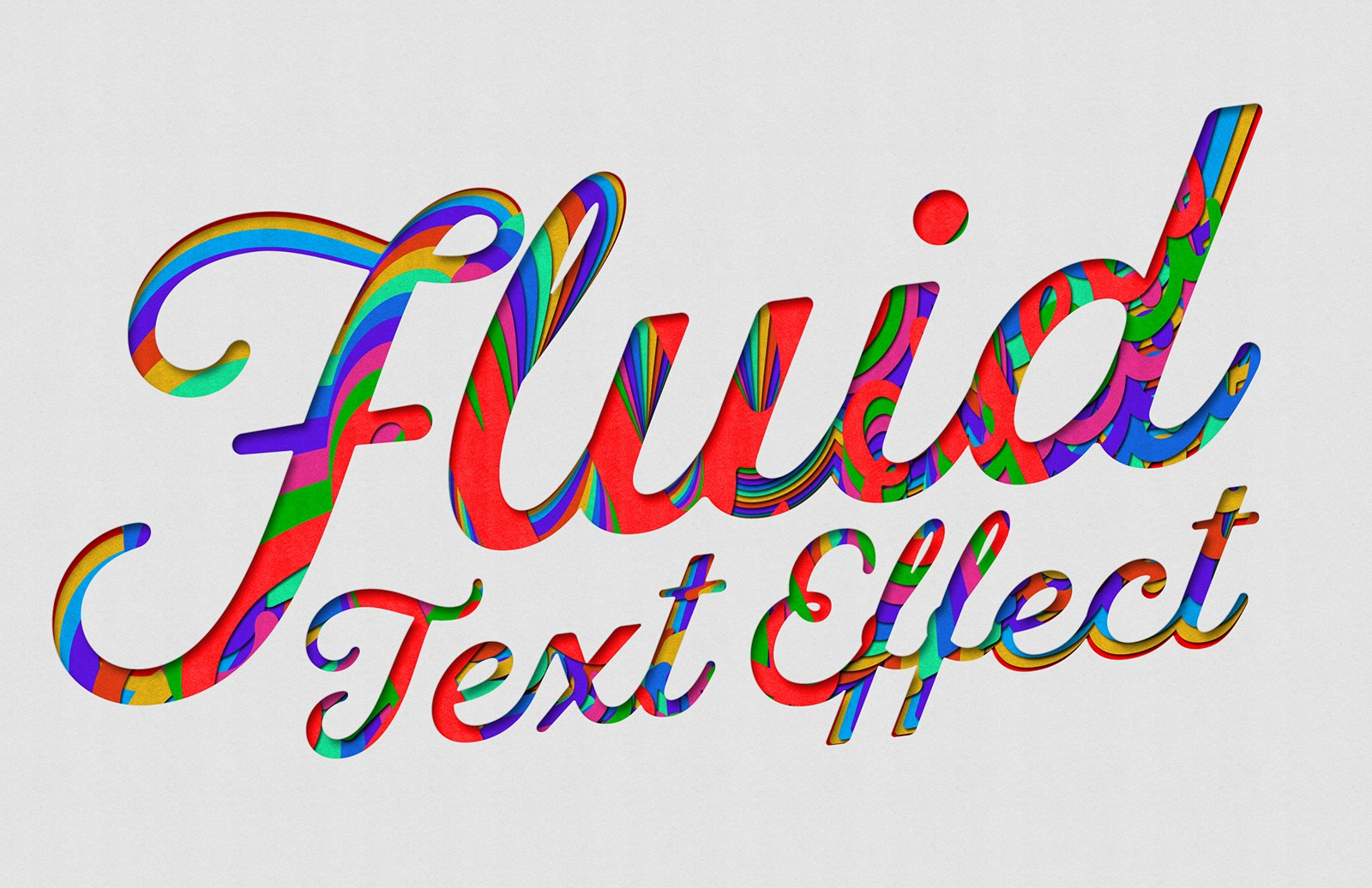 Fluid - Retro Cardboard Text Effect