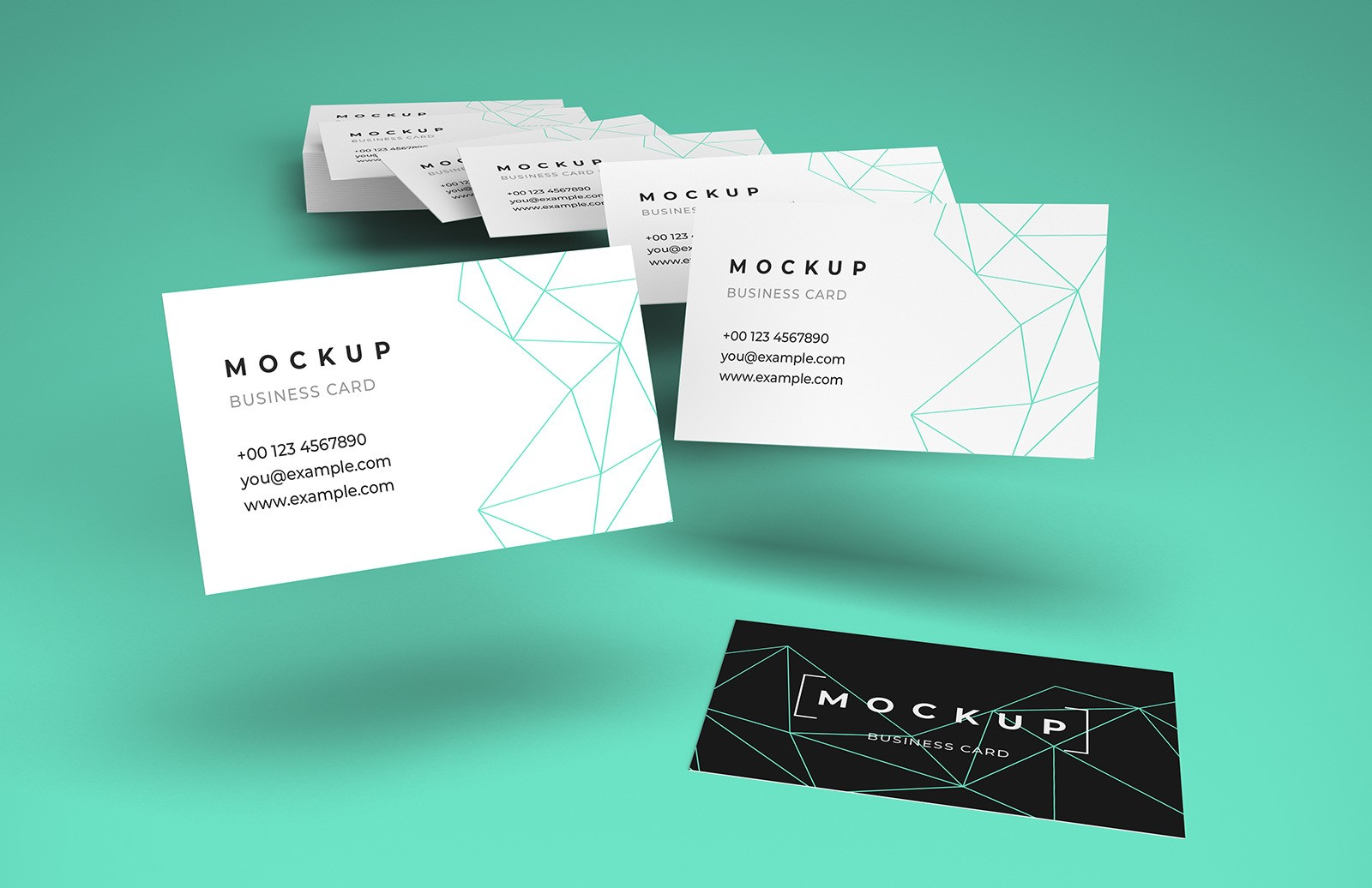 Flying Business Cards Mockup Preview 1A