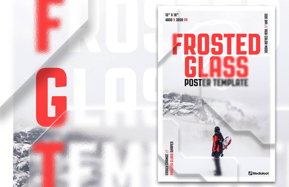 Frosted Glass Poster Template Preview 1