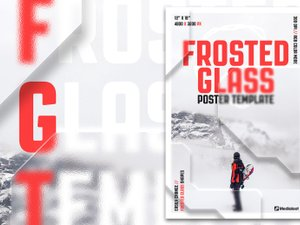 Frosted Glass Poster Template 1