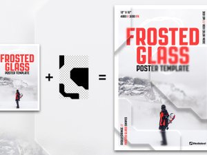 Frosted Glass Poster Template 2