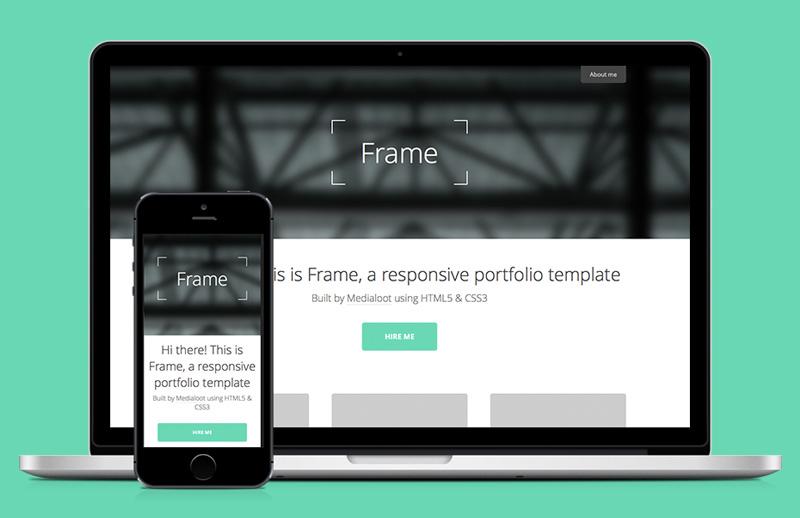 Frame  Responsive  Portfolio  Template  Preview 1